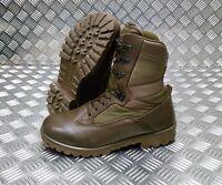 Genuine British Army Issue Leather / Cordura Assault / Patrol Combat Boots