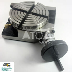 """4/"""" 100mm horizontal vertical tilting 0-90 degree rotary table-milling,tool"""