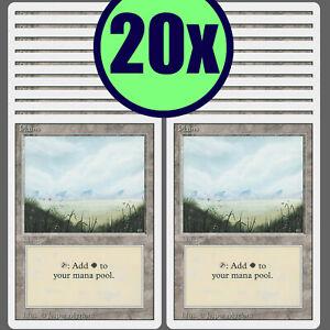 20x PLAINS Revised Same Art Basic Land NM/LP MTG Magic the Gathering