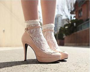 Women-Girls-Ankle-Fancy-Retro-Lace-Ruffle-frilly-princess-Fashion-Short-Socks
