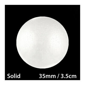 35mm / 3.5cm POLYSTYRENE SOLID ROUND STYROFOAM BALLS POLY CANDY SWEET TREE PARTY