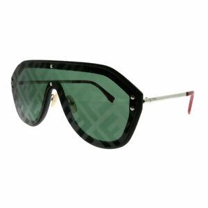 29aa694338 Fendi Men FF M0039 G S 807 XR Black Shield Sunglasses Green Fendi ...