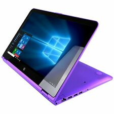 "HP Purple x360 Touch 15t Laptop 15 Convertible 15.6"" i3-7100U 4GB 1TB AC Btooth"