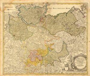 Circulus Saxoniae Inferioris Johann Baptist HOMANN Northern