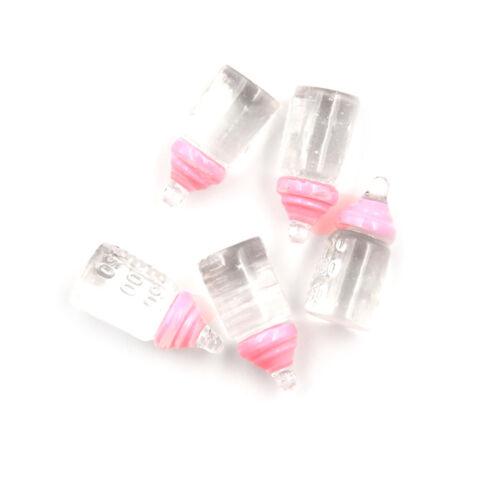 5Pcs 1:12 scale Cute Clear Bottle Simulation Mini Milk Bottle Feeding bottles##