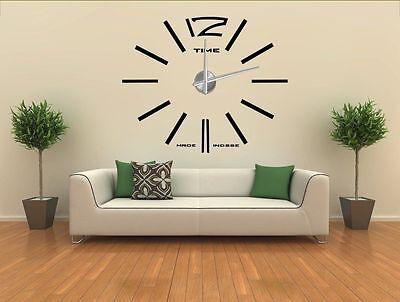 Design 1 Wanduhr 100 - 130 cm 3 D XXL Uhr  Selbst gestaltbare Do-it-yourself