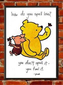 Winnie the Pooh Piglet Quote Print, love,nursery decor,baby shower,inspira<wbr/>tional