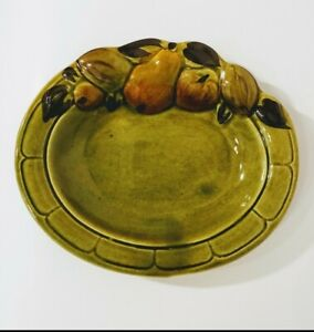 VINTAGE-LOS-ANGELES-POTTERIES-CALIFORNIA-POTTERY-GREEN-SERVING-DISH-BOWL