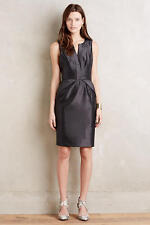 NWT Anthropologie Cross Front Sheath Dress by Maeve, Black-8, 12, Red - 8, 10