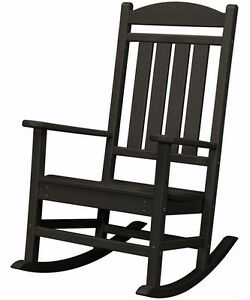 Outdoor Chair Rocker Wooden All Weather Heavy Duty Furniture Patio