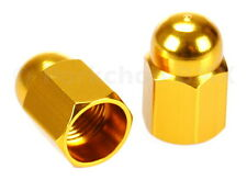 Aluminum alloy BMX bicycle acorn Schrader valve caps - GOLD ANODIZED