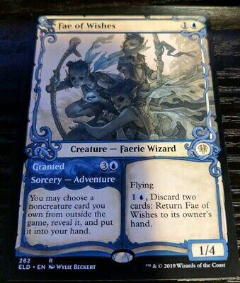 Pack Fresh Mint Magic The Gathering 4x Fae of Wishes Throne of Eldraine MTG