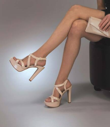 "Queenie Nude Taupe 4/"" High Heel Platform Sandal Pageant Sweet 16 Party Prom Shoe"