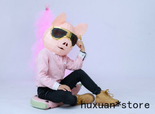Details about  /2020 Pig Top Head Mascot Costume Suits Cosplay Party Game Dress Outfits Top Hot