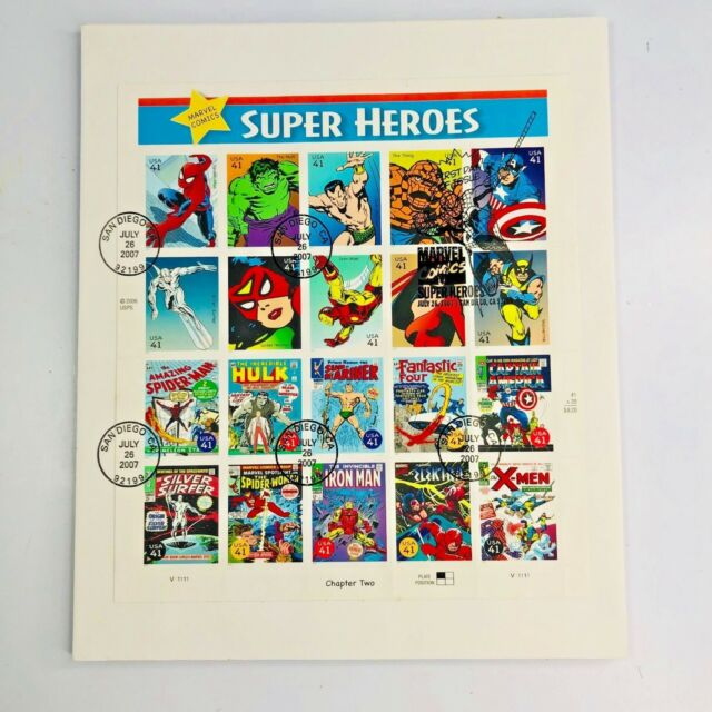 4159 2007 Marvel Comics Super Heroes Full Sheet First Day of Issue Cancellation