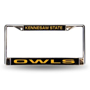 Kennesaw State Owls Chrome Metal Laser Cut License Plate