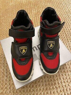 Lamborghini E0XUBSA1 71304 Lace Up Mens Trainers Green Sneakers Shoes