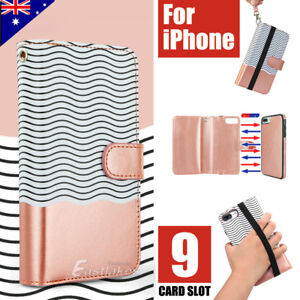 Apple-iPhone-X-XS-MAX-XR-8-7-Plus-Luxury-Wallet-Case-Flip-Leather-Magnetic-Cover