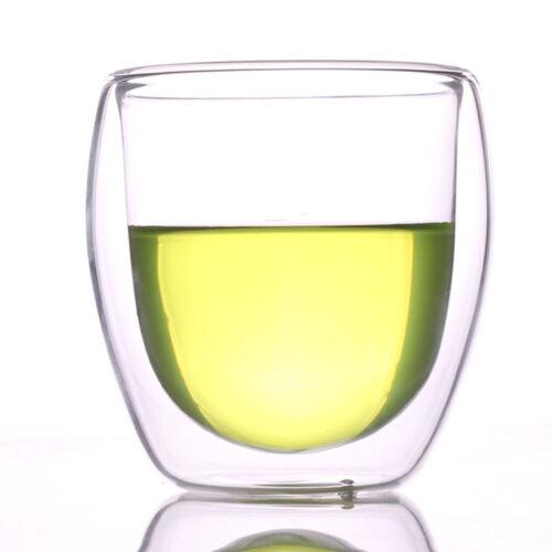 Tasse Transparent en Double-parois Verre Isolée pour Boisson Chaud et Froid