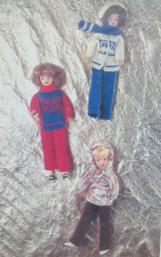 Fashion Dolls Clothes KNITTING PATTERN 4ply 11.5 in  jumper trousers jacket 1756