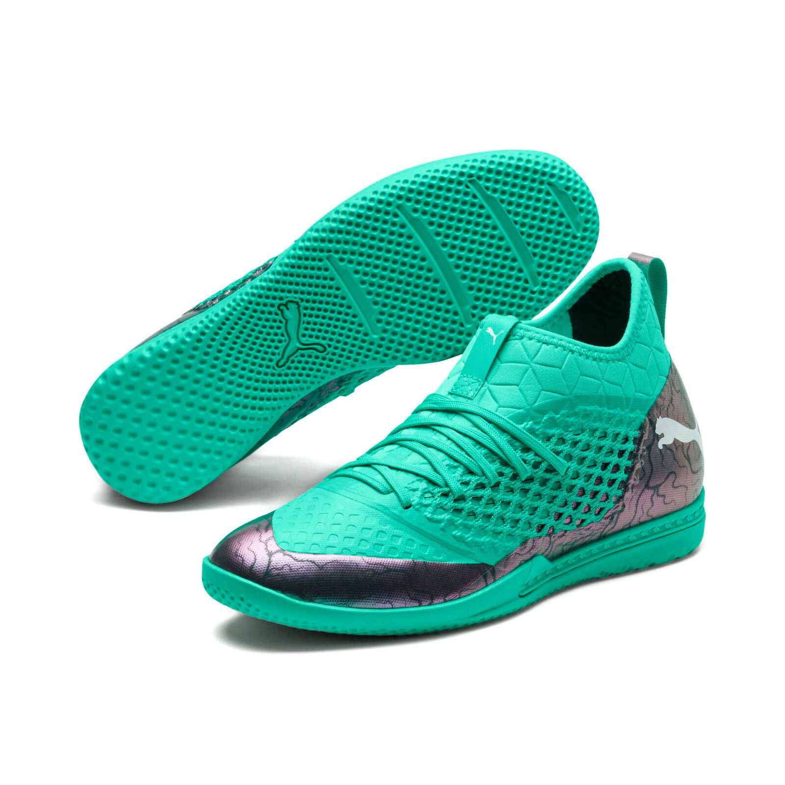 Puma Future Netfit 2.3 IT 2018 Indoor    Training Soccer shoes Teal   Silver