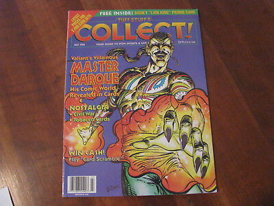 Non-sport Trading Cards Diligent July 1994 Valiant's Villainous Master Darque Cover Tuff Stuff's Collect Magazine Collectibles