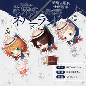 Details About New Yakusoku No Neverland The Promised Neverland Emma Norman Ray Keychain Strap