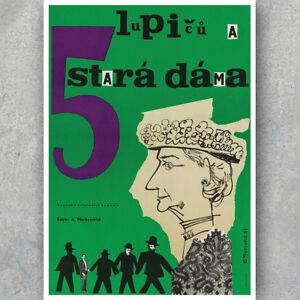 French Film Retro Art Print LUPICU A 5 STARÁ DÁMA A3 A6 Vintage MOVIE POSTER