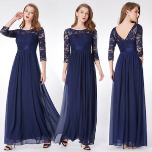 68eb63800dd Ever-pretty US Long Lace Mother Of Bride Dress Evening Party Prom ...