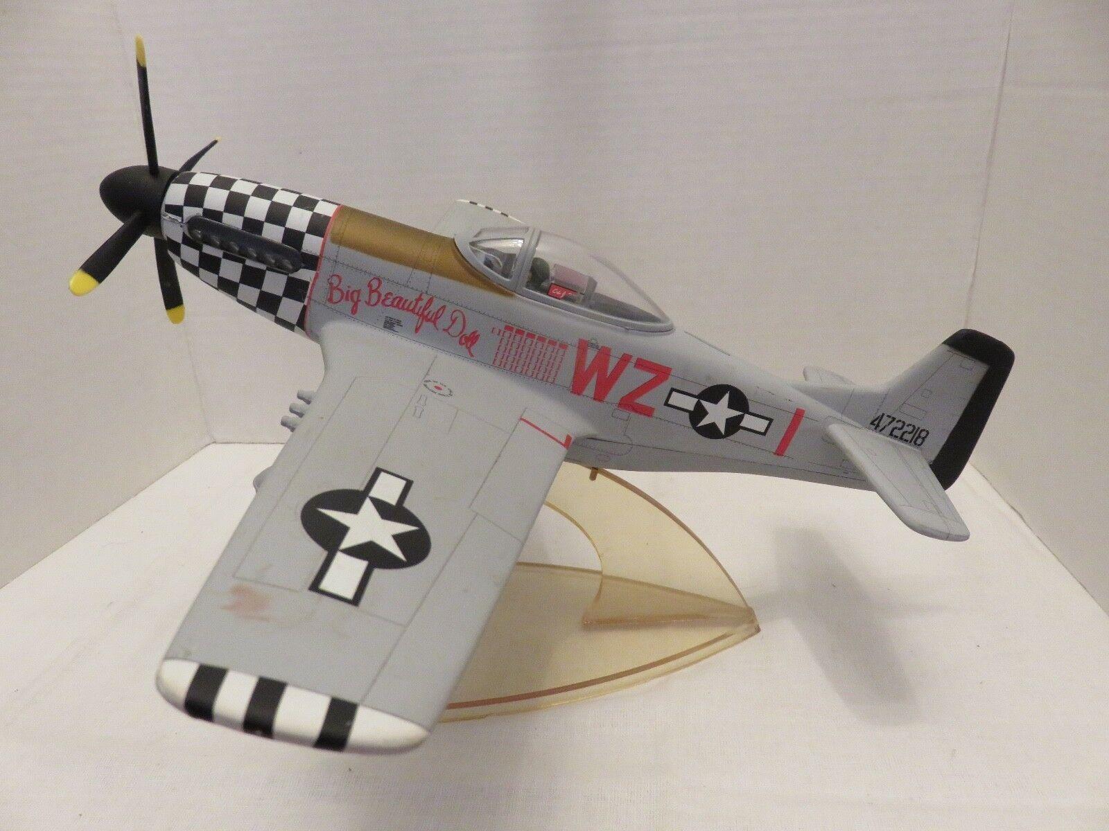 Mustang Modèle Métal Avion P-51D Big Beautiful Doll Fighter Squadron Desk Top