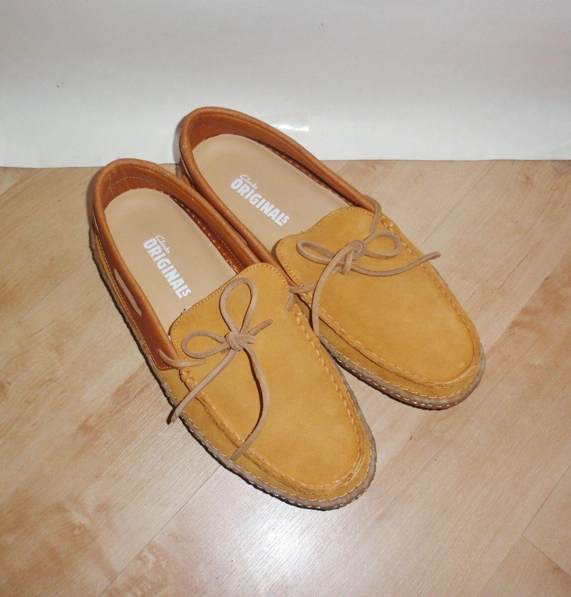 Nuevo Y EN CAJA Clarks Originals para hombre Edmund Valle Cordones Casuales Zapatos Gamuza