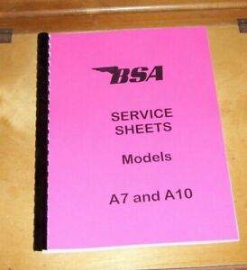 BSA-SERVICE-SHEETS-A7-and-A10-RIGID-PLUNGER-SWINGING-ARM-MODELS-1946-62-REPRINT