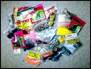 PRICED-TO-SELL-A-GREAT-SELECTION-OF-36-BAGS-OF-VARIOUS-RUBBER-BAITS-USED