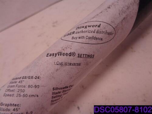 """Siser EasyWeed 12/"""" x 10/' Heat Transfer Vinyl HTV for T-Shirts Black"""