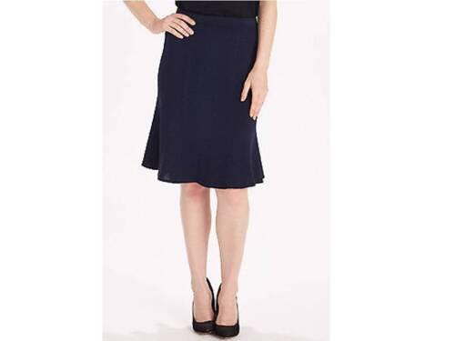 NEW St John Collection 2 8 10 12 Flare Skirt Black Navy Santana Pull On Wool