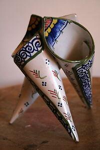 corne-d-039-abondance-cornet-vase-ceramique-faience-emaillee-quimper