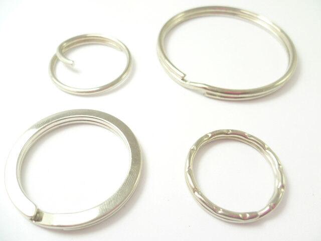 Split Anillos Premium británico a la calidad de acero 4 Diseños 14 Tamaños Compra De 5 A 1000