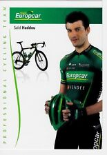 CYCLISME carte cycliste SAID HADDOU équipe EUROPCAR 2012