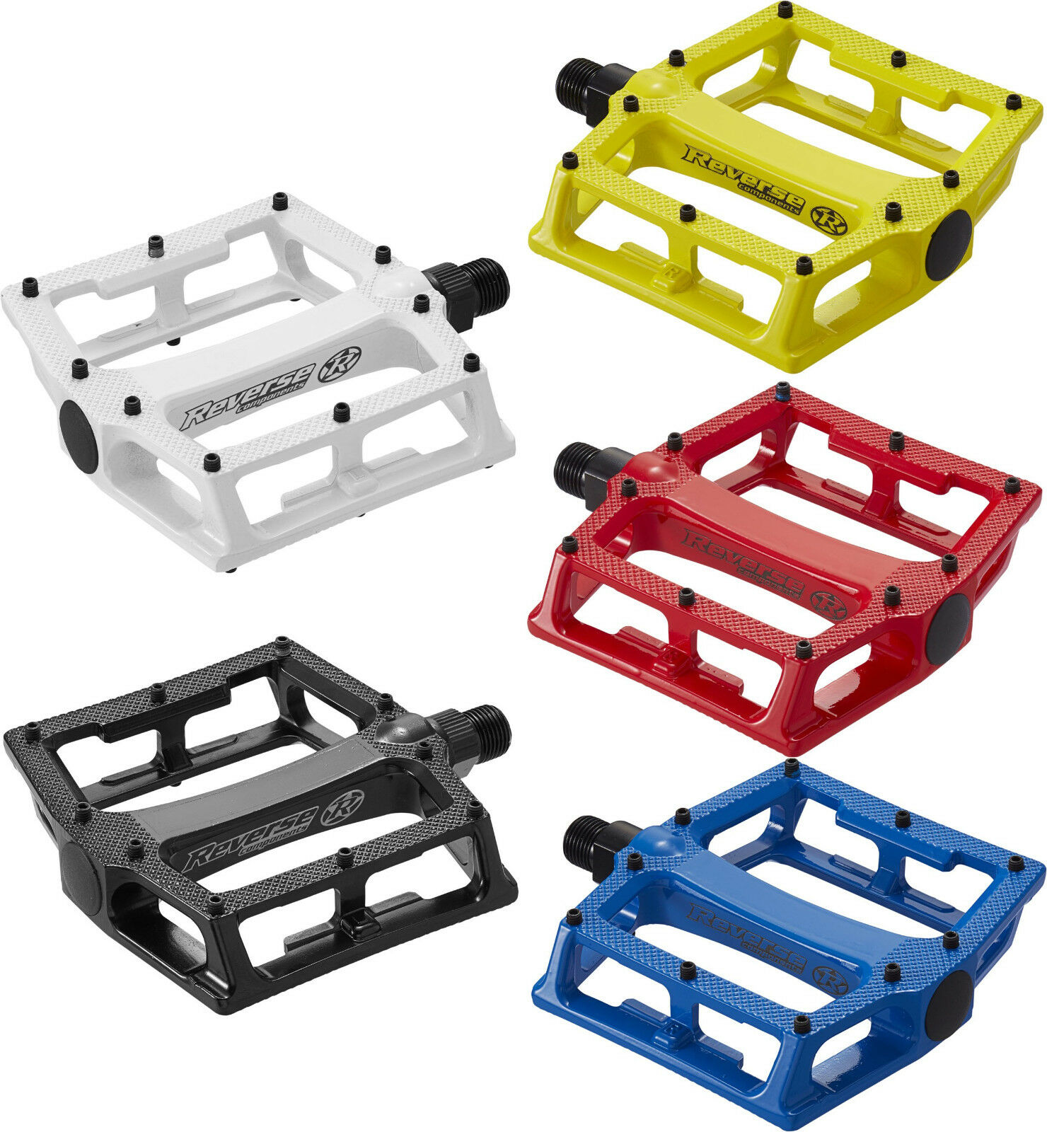 Platform Pedals Reverse Super shape-3-d in various colours
