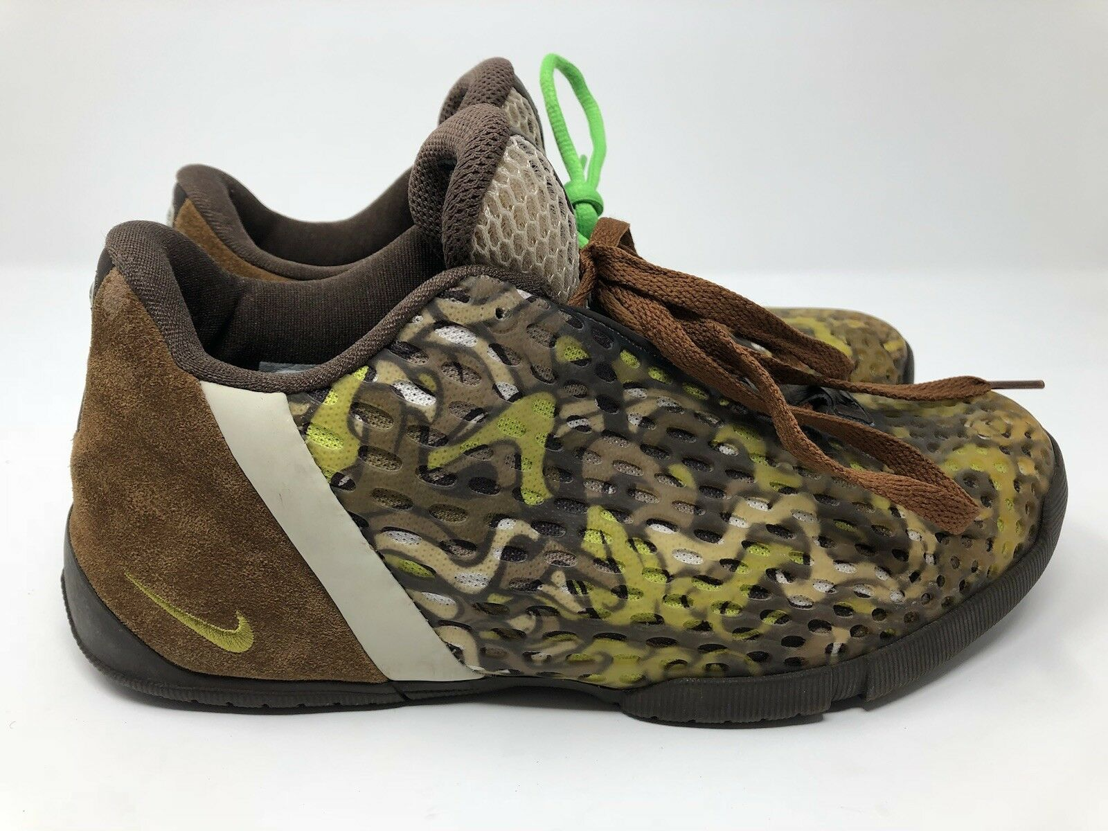 c5ff251f23fe7 Nike Mens Vintage zm2 Brown Brown Brown Green Camo Size 9.5 US 8.5 UK 7ff708