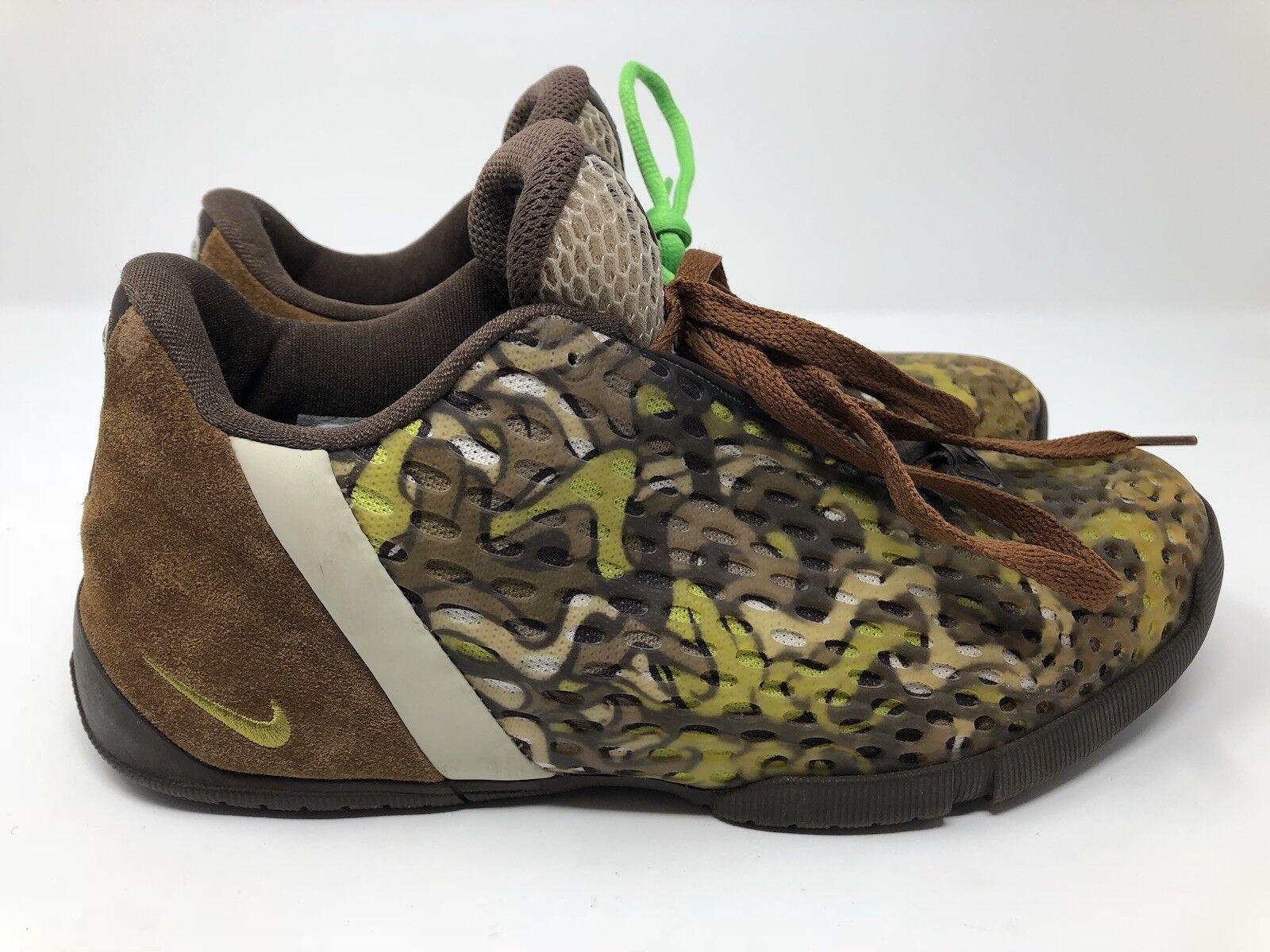 c5ff251f23fe7 Nike Mens Vintage zm2 Brown Brown Brown Green Camo Size 9.5 US 8.5 UK 7ff708