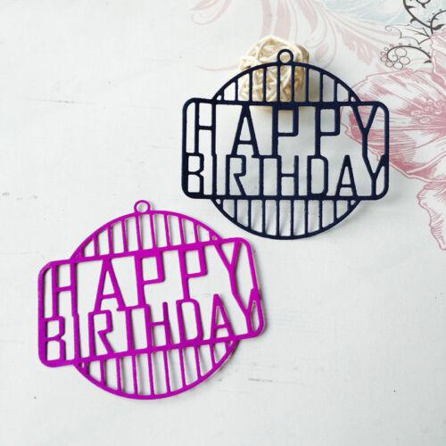DIY Happy Birthday Metal Cutting Dies Stencil Scrapbook Album Card Embossing Lot