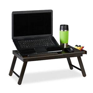 Laptoptisch-Betttablett-Knietisch-Lapdesk-Falttisch-Buchhalter-Fruhstuckstisch
