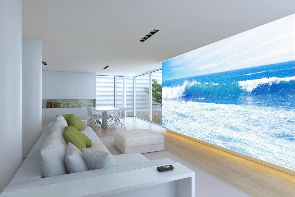 3D Sky Blau Waves 944 Wallpaper Mural Paper Wall Print Wallpaper Murals UK