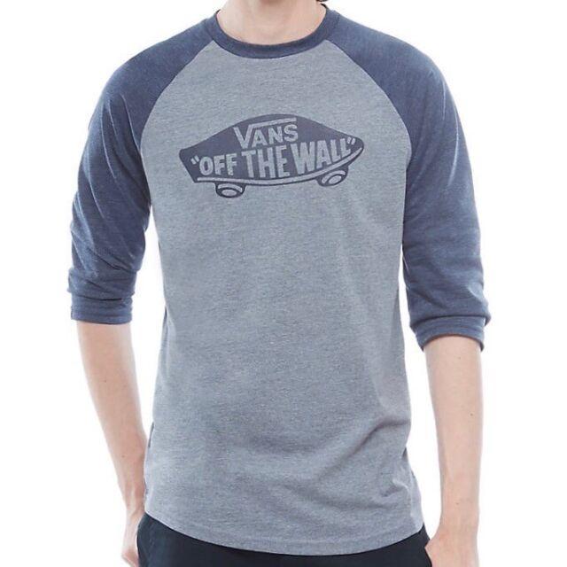 4fa3444bd1 VANS OTW Raglan 3 Quarter Mens T-shirt Long Sleeve - Heather Grey ...