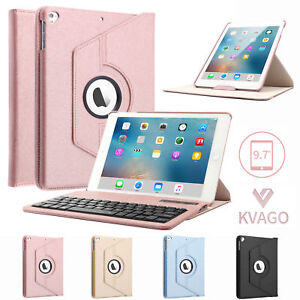 """PU Leather Case Cover +Keyboard For iPad 9.7"""" 6th Gen/2018 5th/2017 Pro Air 1/2"""