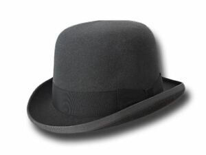 Cappello-a-Bombetta-Pinkerton-feltro-di-lapin-grigio
