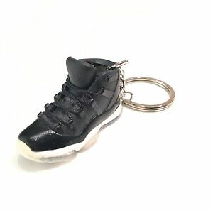 9f0dcd46868780 mini sneaker Air Jordan 11 ( 72-10 ) 3D Keychain REAL LACES AJ ...