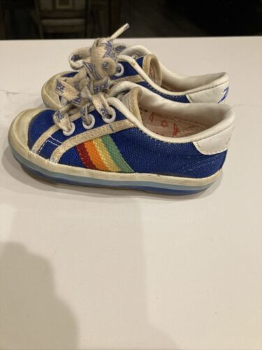 Vintage 1980s Zips Stride Rite Sneaker Shoes Rainb