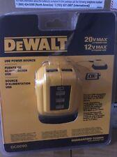 Brand New Sealed DeWALT DCB090 12V/20V MAX USB Power Source Free Shipping